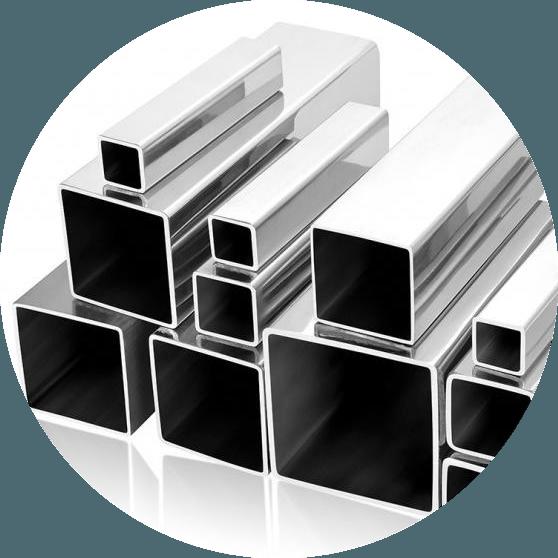 Труба алюминиевая профильная КВАДРАТНАЯ, ПРЯМОУГОЛЬНАЯ